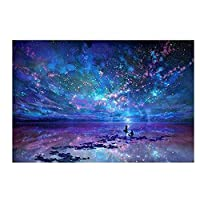 50 X 40CM DIY 5D Diamond Painting Aurora Stars by Number Kits, Crystal Diamond Embroidery Painting Cross Stitch for Home Decor