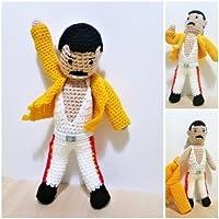 Freddie Mercury muñeco de amigurumi crochet