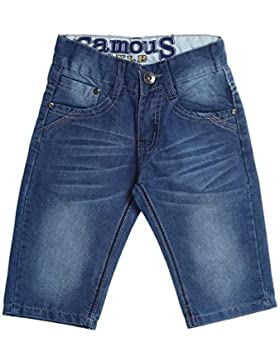 Jungen Kinder Cargo Hose Bermuda Shorts Capri Vintage Sport Kurze Strech 20343