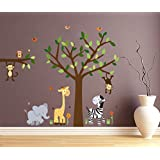 DreamKraft Animal Wall Sticker For Kids Room |Living Room|Bedroom|Office PVC Vinyl Art Decals(36X28 Inch)
