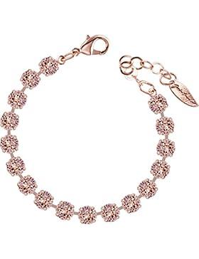 Rosi Armband small 6mm Chatons rosé vergoldet