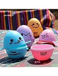 Bazaar 6PCS Camping Picknick Tragbare Eier Halter Ei Aufbewahrungsbehälter Kasten Bunte Kochwerkzeug