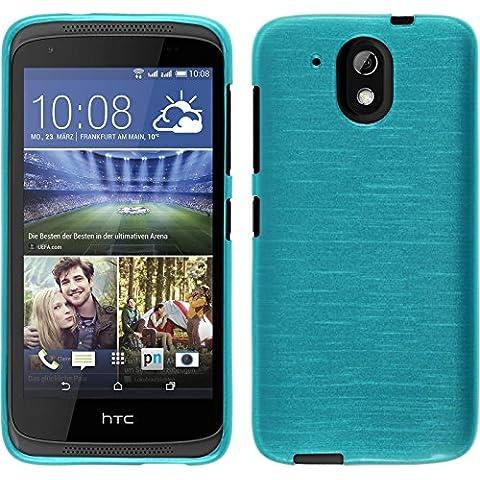 Funda de silicona para HTC Desire 526G+ - brushed azul - Cover PhoneNatic Cubierta + protector de