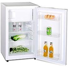 Kühlschrank Mit Gefrierfach A++ (90 Liter) Gefrierschrank ✓ Abtauautomatik  ✓ Höhenverstellbare Glasablagen ✓ Gemüsefach