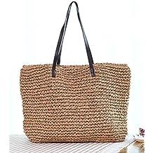 Bolso Coreano Femenino Bolso De Paja Bolso De Playa Bolso Bolso Simple Bolso De Crochet Bolso