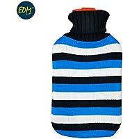 EDM Wärmflasche aus Wolle mit Blauen Streifen 2 Liter APROX preisvergleich bei billige-tabletten.eu