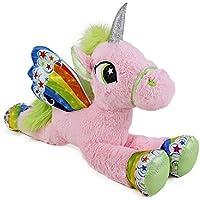 Gigante Peluche Unicorno Pony Cavallo Rosa 105 cm per Bambini Ragazzi Adulti San Valentino