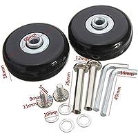 ICTRonix par de equipaje, maletín Wheels Rueda de repuesto para maleta equipaje 45mm x 19mm