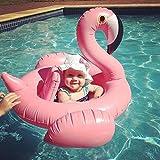 Asenart ® bebé inflado nadar barco flotador anillo Floatie montar en Rideable soplar verano divertido piscina juguete flotador jerga para niños (Flamenco rojo)