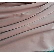 Pre corte 1m pieza de color rosa algodón de colores costura de terciopelo tela–240gsm–112cms de ancho: por metro