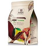 Cacao Barry - Tanzanie 75% Origine Rare chocolat noir de couverture pistoles 2,5 kg