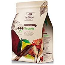 Cacao Barry Origine - 75% Tanzanie Chocolate Negro de Cobertura (pistoles) 2.5kg