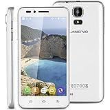 """Landvo V1 - 3G Smartphone Teléfono Móvil Libre (Pantalla 4.5"""", Android 5.1, 4GB ROM, Quad-Core 1.3GHz, Dual SIM), Blanco"""
