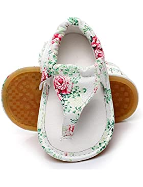 Janly Schuhe jany 0-24 Monate Mädchen Quasten Sandalen Baby Sommer Casual Blumendruck Hohl Schuhe