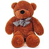 Enorme Oso de Peluche sentado - 80 CM Teddy bear Adorable y tierno - Brillante para el día de San Valentín - Cumpleaños - Ideal para una novia - Esposa - Para jóvenes y adultos por igual.