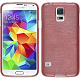 PhoneNatic Samsung Galaxy S5 Mini Silikon Hülle rosa brushed