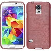 PhoneNatic Samsung Galaxy S5 Mini Silikon Hülle rosa brushed