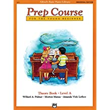 Alfred's Basic Piano Prep Course Theory Book, Bk a: Universal Edition (Alfred's Basic Piano Library)
