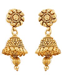 BFC- Buy For Change Traditionally Designed One Gram Gold Plated Jhumka / Earrings For Women And Girls