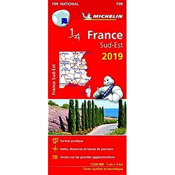 Carte France Sud-Est Michelin 2019