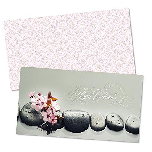 25 Bons cadeaux + 25 enveloppes pour kinésithérapie, énergétique, bien-être, wellness et spa MA1257F