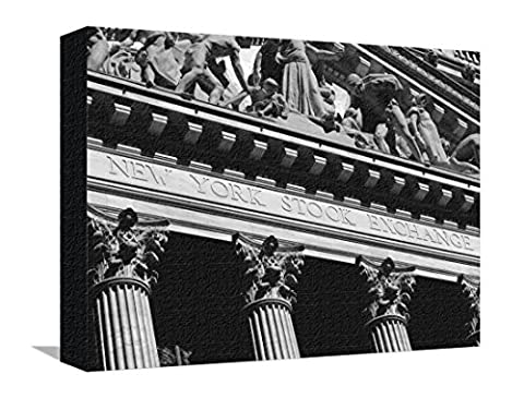 Reproduction sur toile tendue New York Stock Exchange, Wall Street Area, New York, New York State, USA par Robert Harding - 30x41 cm