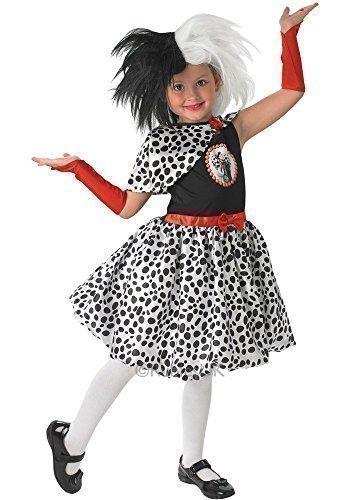 Offiziell Lizenziert Disney Mädchen Cruella De Ville Villain Büchertag Woche Halloween Kostüm Kleid Outfit Age 3-10 jahre - Schwarz/weiß, Schwarz/weiß, 3-4 ()