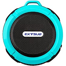 Expower Altavoz Estéreo Muti-function Wireless 5W IPX5 Waterproof Dustproof Shockproof Wireless Shower Speaker Outdoor Excise Hiking Camping Speaker with carabiner (Blue)