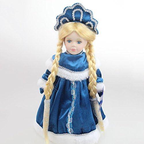 QXMEI Poupée en Céramique Neige Princesse Poupée De Noël Noël Noël Russe Hiver Décoration,LightBlue B07DN7986D 1de3fd