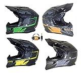 MOTORRADHELM VIPER RSX99 STEREO MOTOCROSSHELM MX ENDURO HELM ALLE FARBEN (S, ORANGE)