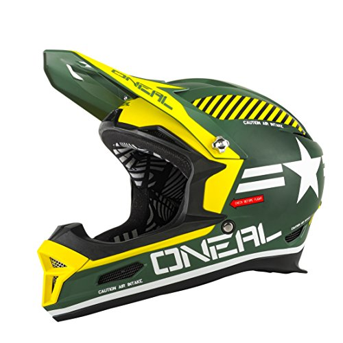 O'Neal Fury RL Helm Afterburner Fahrrad, Men, Fury Rl Afterburner, grün, M (57-58 cm)