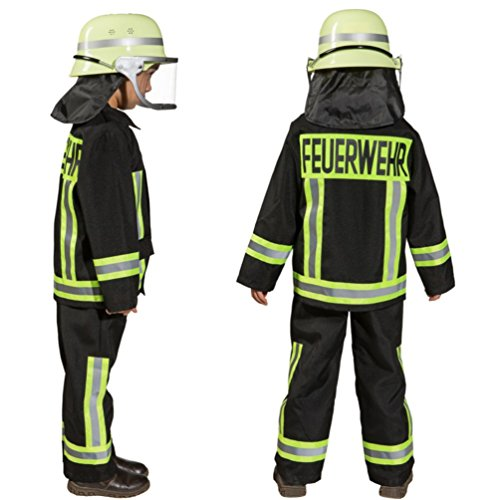 Imagen de disfraz infantil de bombero, uniforme de bombero alternativa