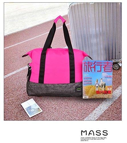 GOX Sporttasche Für Frauen und Mädchen Multifunktions-Umhängetasche Sport Reise Duffel Über Nacht ausdrücken Weekender Yogo Tasche Rose