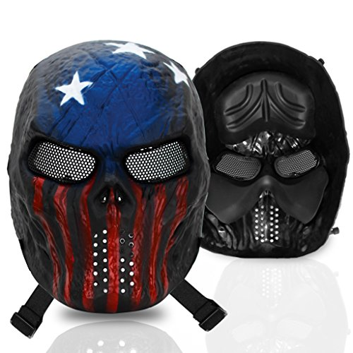 Coole Masken (stargoods Skelett Softair Maske – Metall Mesh Paintball, Bb Gun, & CS Spiele, American)