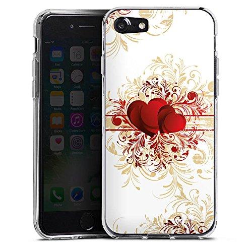 Apple iPhone X Silikon Hülle Case Schutzhülle Silent Love Muster Herz Silikon Case transparent