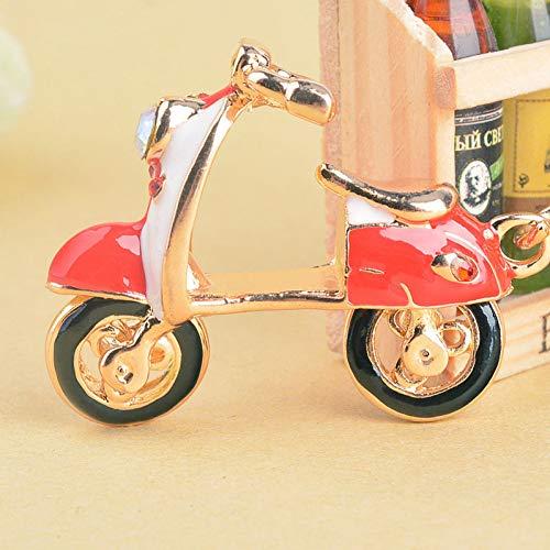 XYAYA Schlüsselbund Mode Motorrad Schlüsselbund Schmuckstück Motorroller Kristall Auto Schlüsselanhänger Taschenanhänger Damen Schlüsselanhänger Für Eine Frau, Rot -