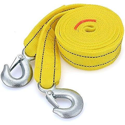 Foxpic 4M 5 Toneladas Cuerda Remolque con Ganchos de Emergencia Resistente para Coche Vehículo