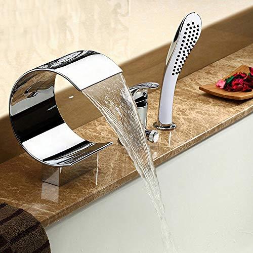 Haus voller Romantik Multifunktions Wasserfall Badewanne Wasserhahn dreiteilige Handbrause...