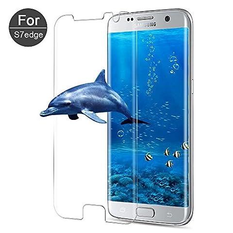 Film Protection Samsung S7 Edge - [Lot de 1] Verre Trempé Galaxy S7