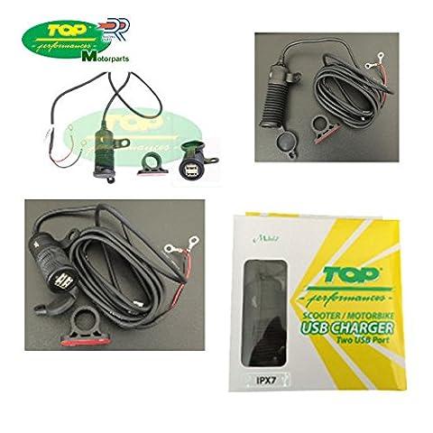 Prise connecteur charge batterie double USB 1224V BMW F 800GS moto et scooter