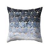 MMLsure® Geometrisches Design Platz Dekokissen,Kissen Print Hülle Pillowslip,Sofakissen Lendenkissen Wurfkissenbezug Kissenhülle, 45x 45 cm (A)
