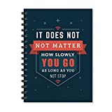 #2: Motivational Quote Printed Wire Bound Spiral Notebook/Designer covers combined with Ruled sheets Notebook/ office stationery/school supplies/diary By 100yellow-A5 Size