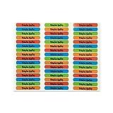 50 Etiquetas Adhesivas Personalizadas para marcar objetos, libros, fiambreras, etc. Medida 6 x 1 cm. Color 1