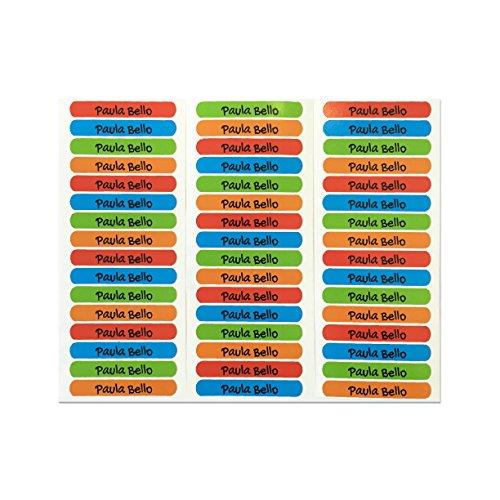 50 etichette adesive personalizzate per quaderni, libri e materiale scolastico. misura 6 x 1 cm. colore 1