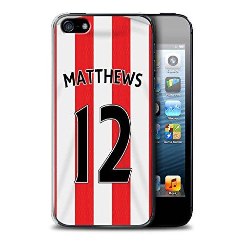Officiel Sunderland AFC Coque / Etui pour Apple iPhone SE / Pack 24pcs Design / SAFC Maillot Domicile 15/16 Collection Matthews