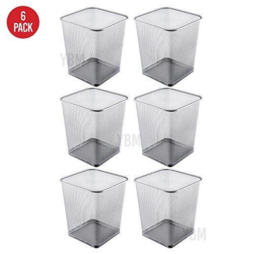 YBM HOME ybmhome Stahl Mesh Quadratisch Offener Top Korb Papierkorb Trash Kann für Office Home 4 Gallon Silber