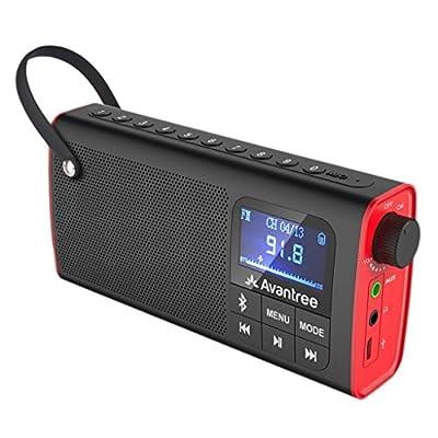 Avantree Radio FM & Lecteur Audio Micro SD, Enceinte Filaire & sans-Fil Bluetooth 3-en-1, Mémorisation & Scan Automatique des Stations, Légère et Portable - SP850 par Avantree