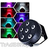 TrAdE shop Traesio- Lampe Licht Effekt Flat Par Light RGB High Power für Partys 6 LED 10 W