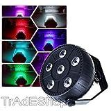 TrAdE shop Traesio- Lampe Licht Effekt Flat Par Light RGB High Power für Partys 6LED 10W