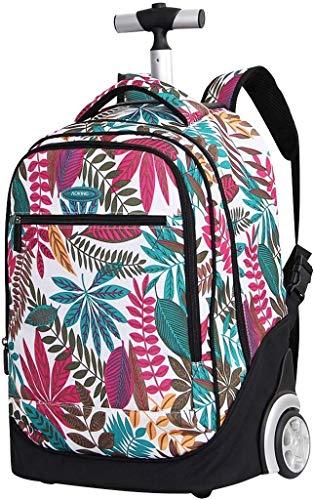 WUAZ Wheeled Backpack School for Children, Trolley Zaino, Durevole Trolley Valigia, Zaino, Borsone & Bag Borsone con Ruote